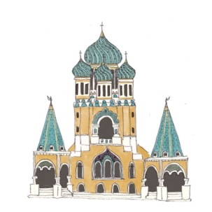 Russian Orthodox Cathedrale in Nice, France
